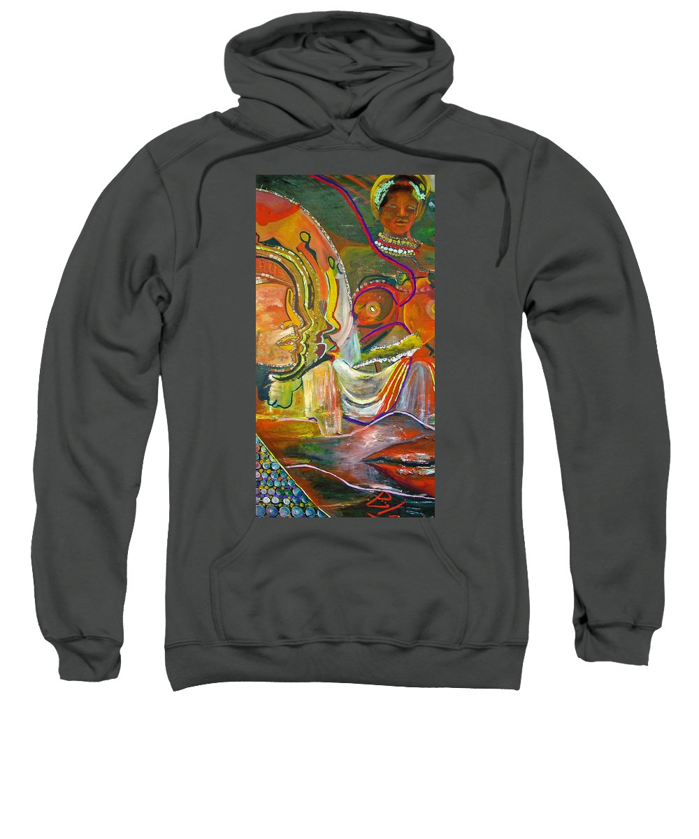 Impressionism Sweatshirt featuring the painting Koulikoro Woman by Peggy Blood