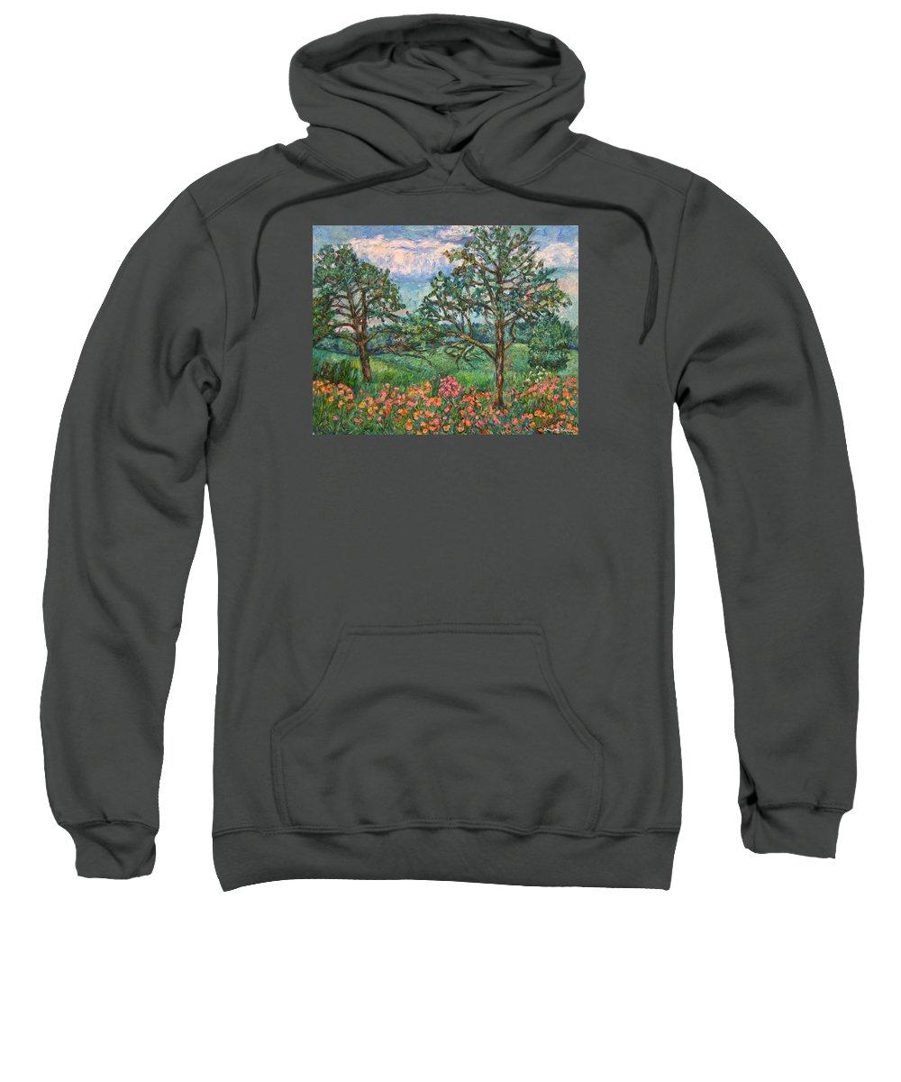Landscape Sweatshirt featuring the painting Kraft Avenue In Blacksburg by Kendall Kessler