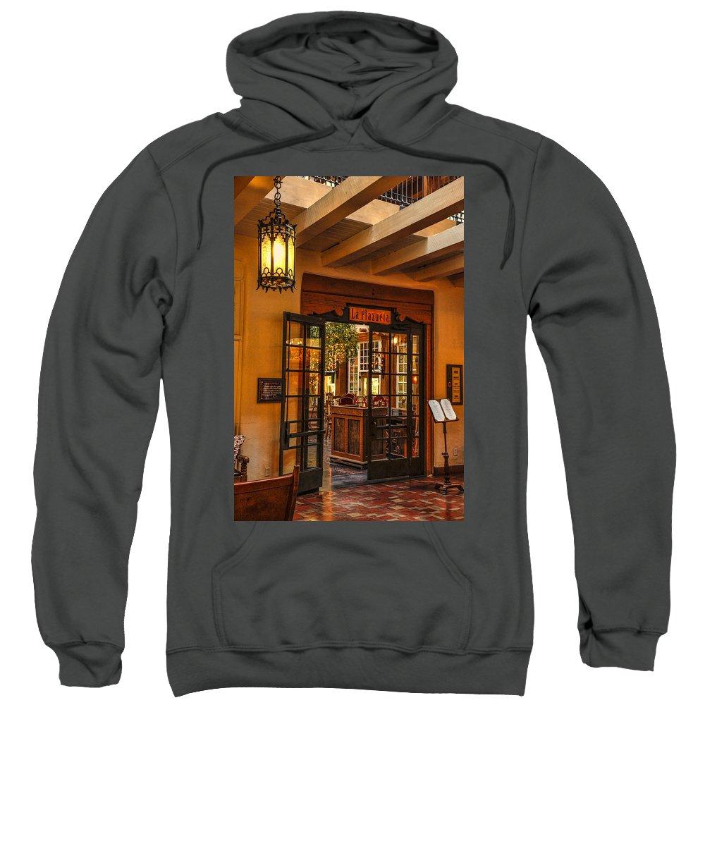 La Plazuela Sweatshirt featuring the photograph La Plazuela by Diana Powell