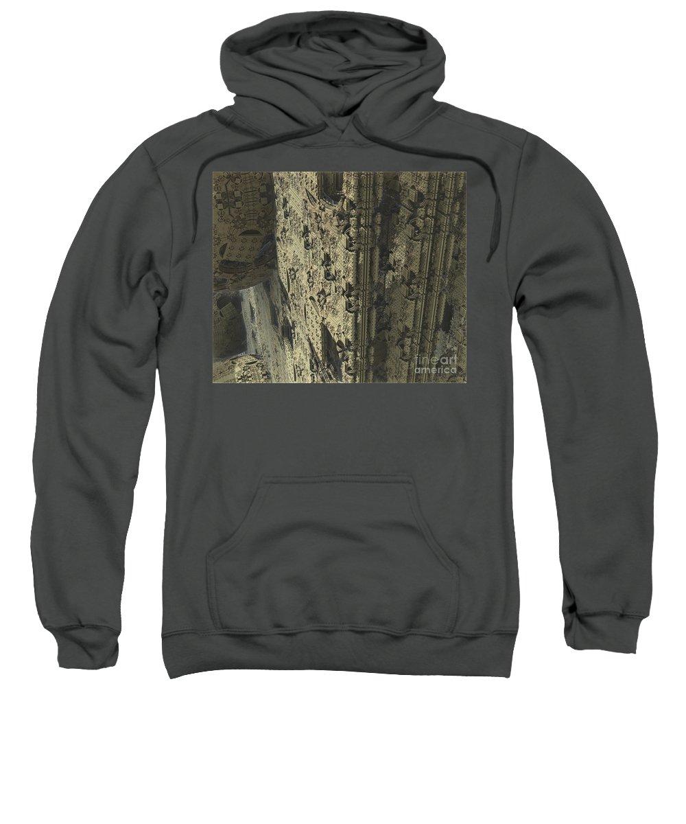 666 Sweatshirt featuring the digital art Labyrinth Dimensions 666 by R Muirhead Art