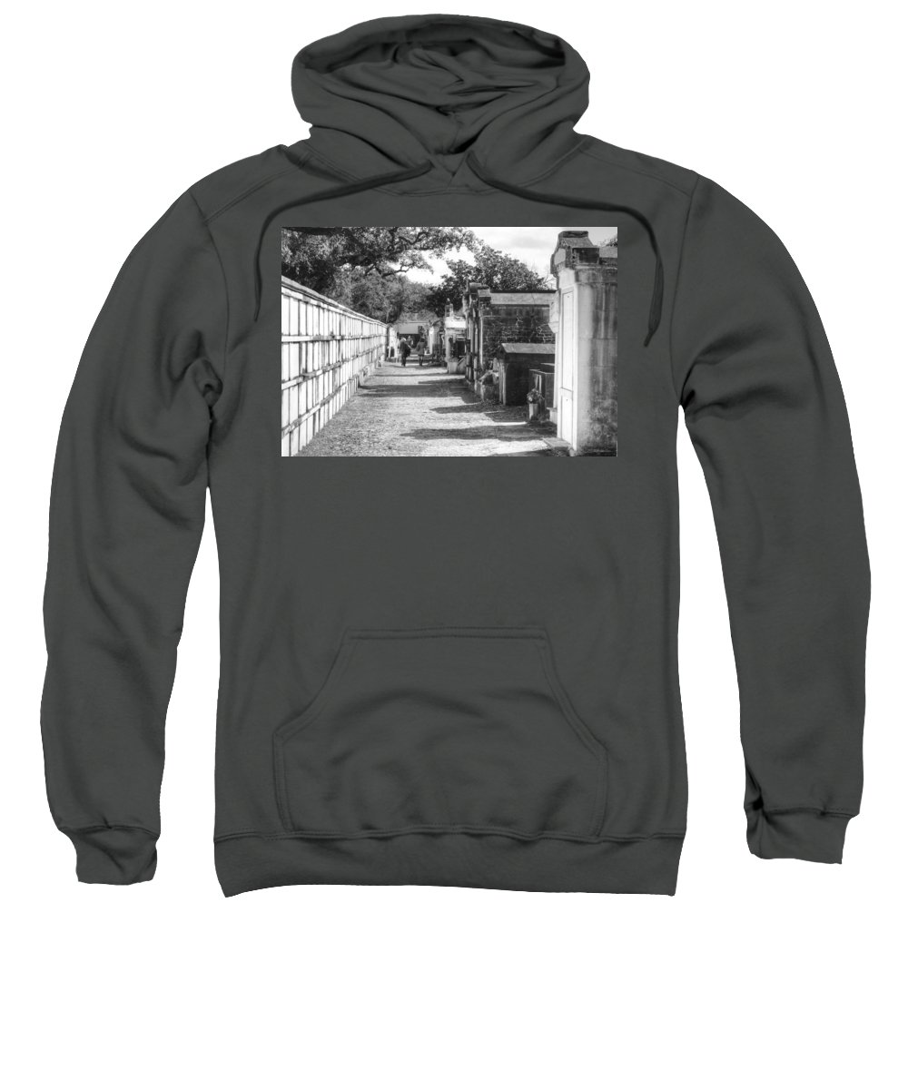 New Orleans Cemeteries Sweatshirt featuring the photograph Lafayette Cemetery 2 by William Morgan