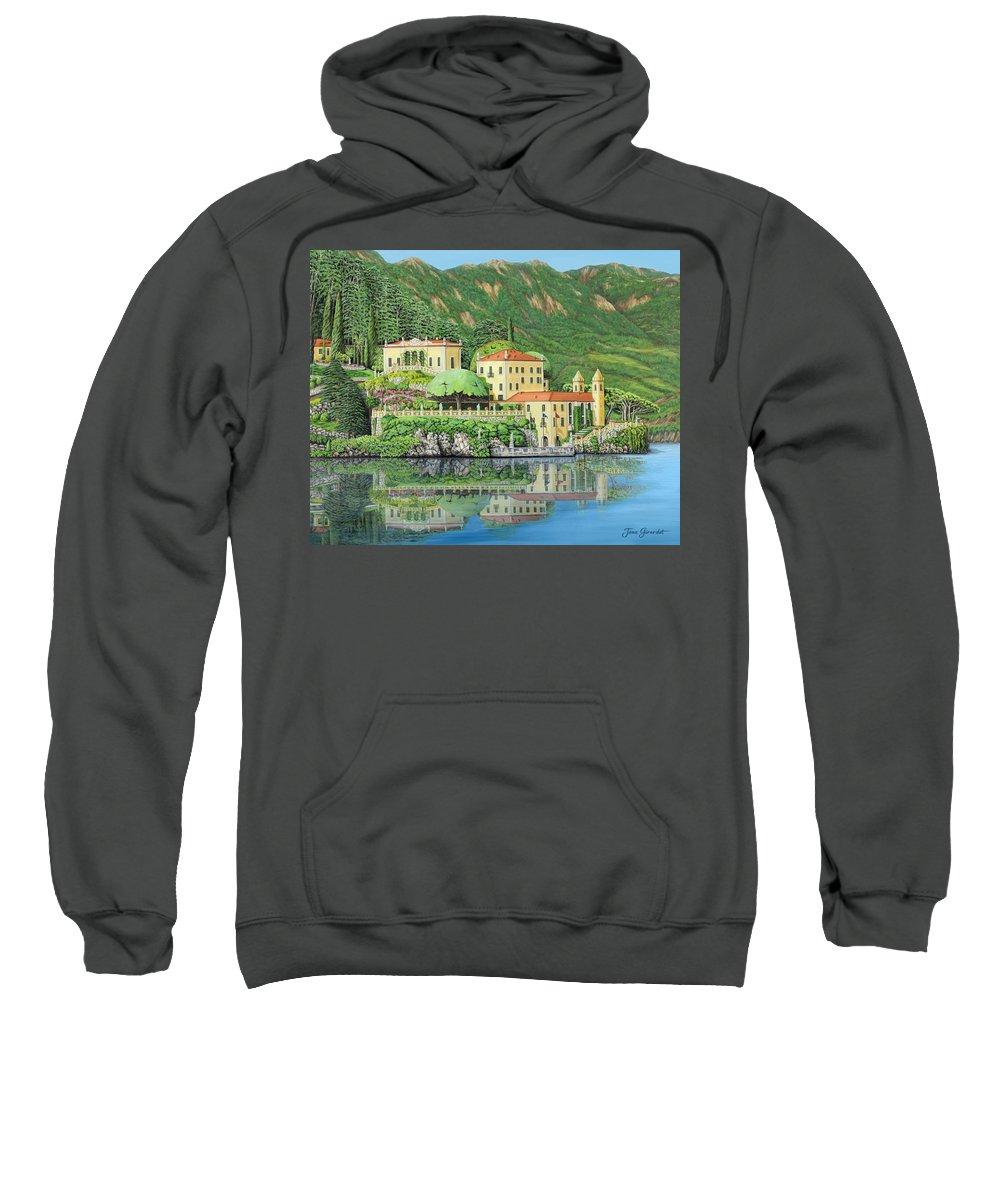 Lake Sweatshirt featuring the painting Lake Como Morning by Jane Girardot