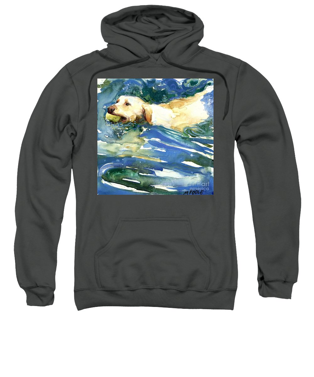 Lake Sweatshirt featuring the painting Lake Effect by Molly Poole