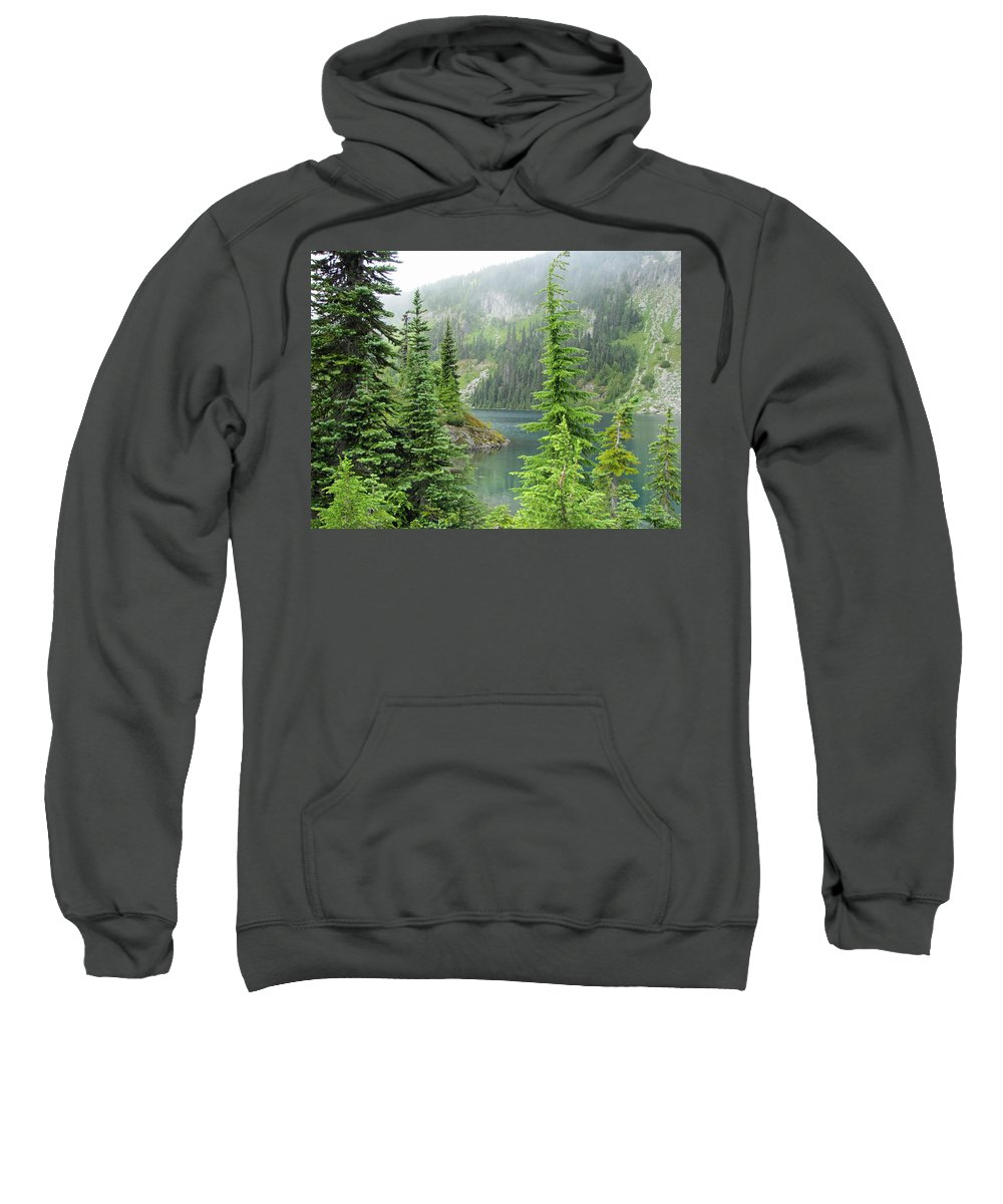 Pacific Northwest Sweatshirt featuring the photograph Lake Eunice II by Tikvah's Hope