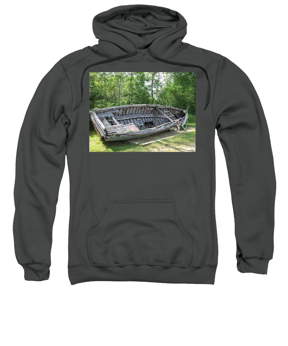 Old Sweatshirt featuring the photograph Lake Huron Relic by Susan Wyman