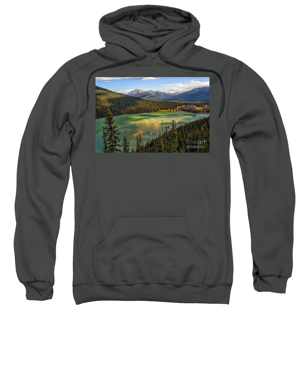Landscape Sweatshirt featuring the photograph Lake Louise by Viktor Birkus