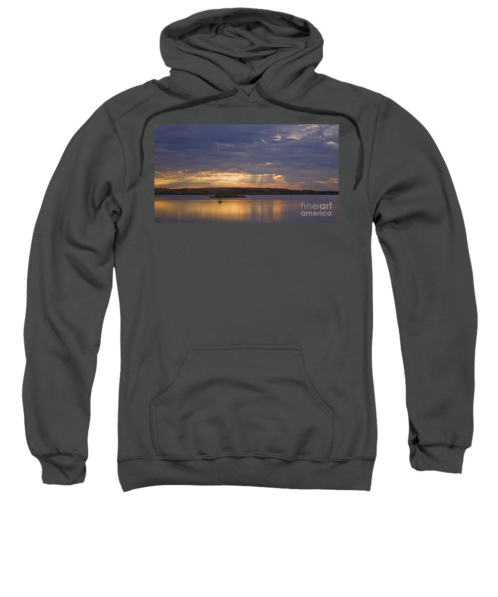 Sunrise Sweatshirt featuring the photograph Lake Sunrise by Andrea Goodrich