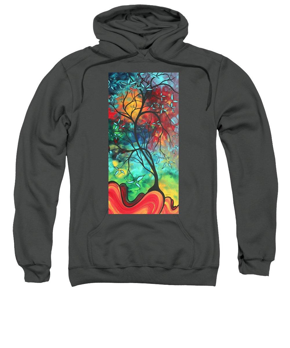Art Sweatshirt featuring the painting Languishing In The Breeze Original Art Madart by Megan Duncanson