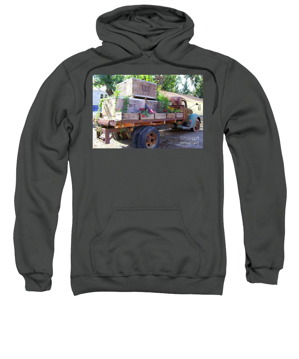 Truck Sweatshirt featuring the photograph Last Load by Mary Deal