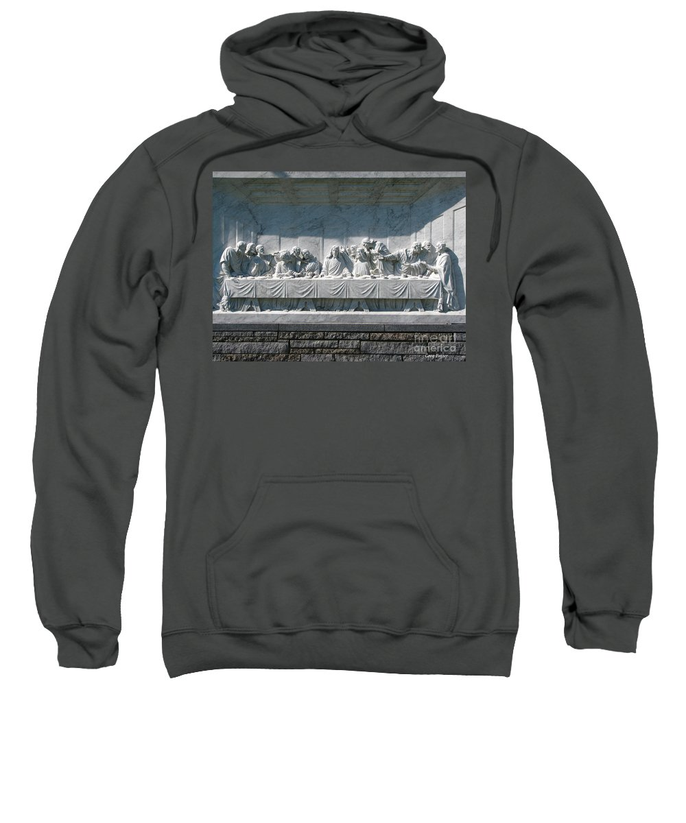 Art For The Wall...patzer Photography Sweatshirt featuring the photograph Last Supper by Greg Patzer