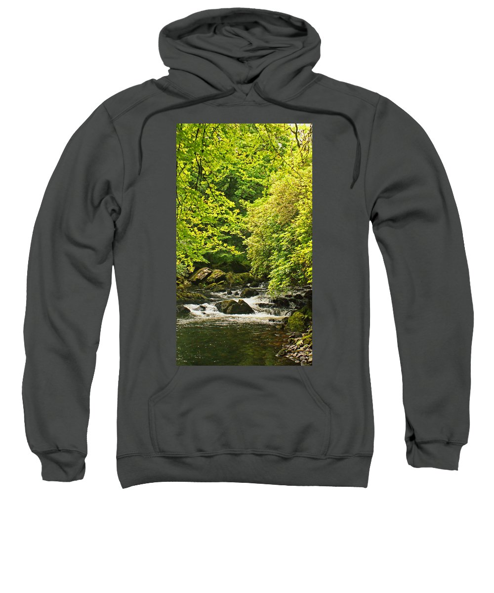 River Sweatshirt featuring the photograph Lauragh River West Cork by Simon Kennedy