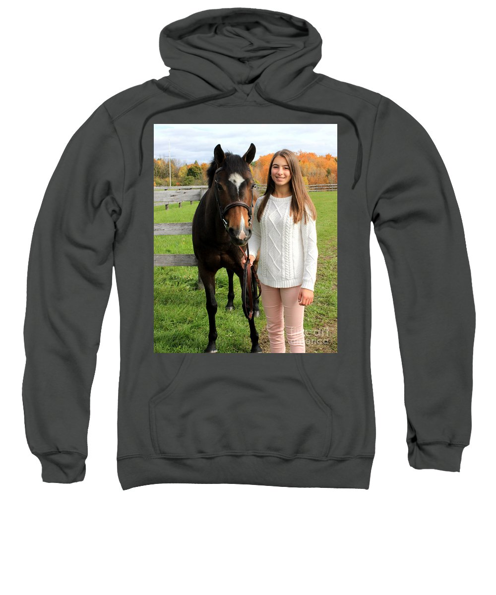 Sweatshirt featuring the photograph Leanna Abbey 11 by Life With Horses
