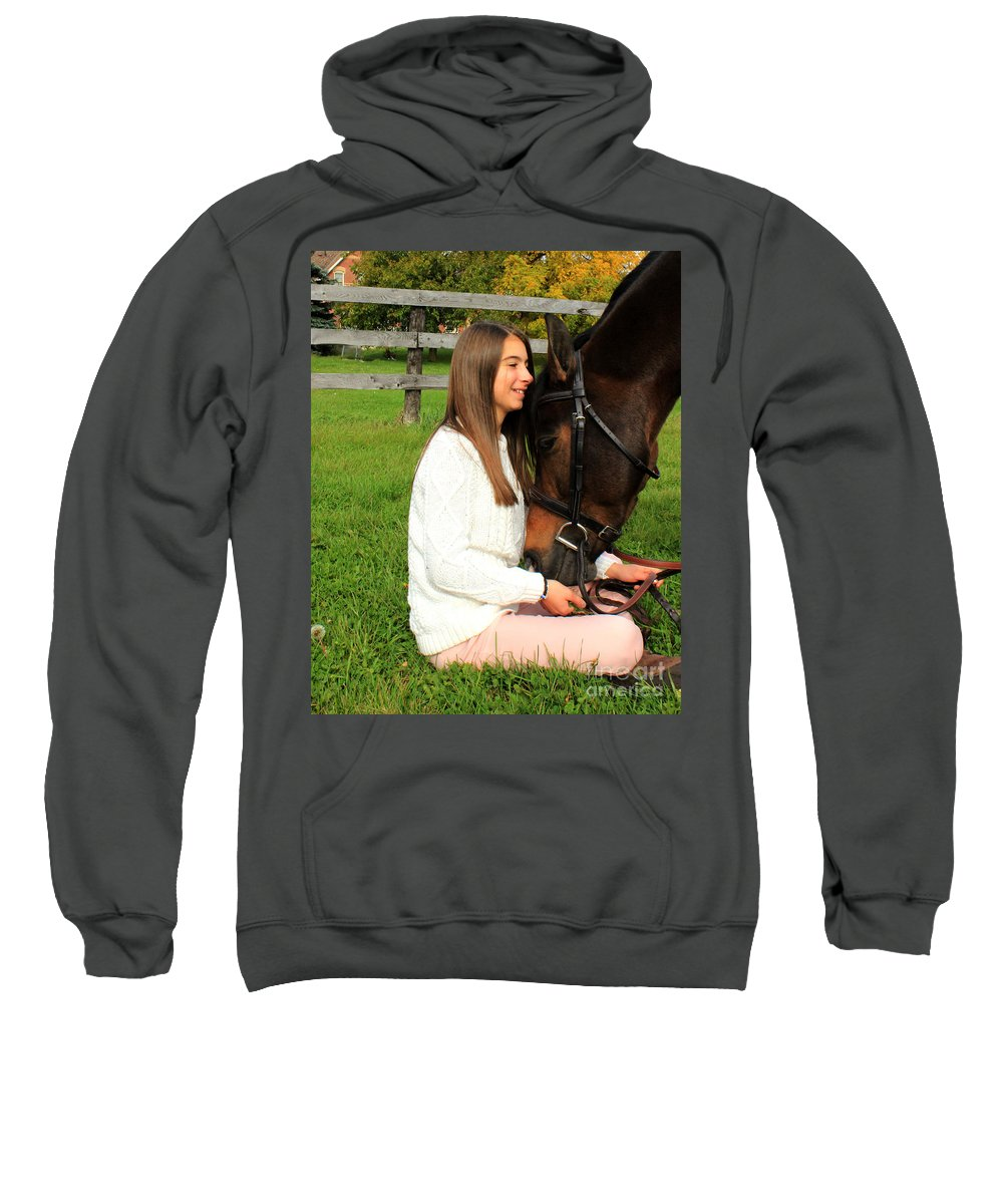 Sweatshirt featuring the photograph Leanna Abbey 21 by Life With Horses