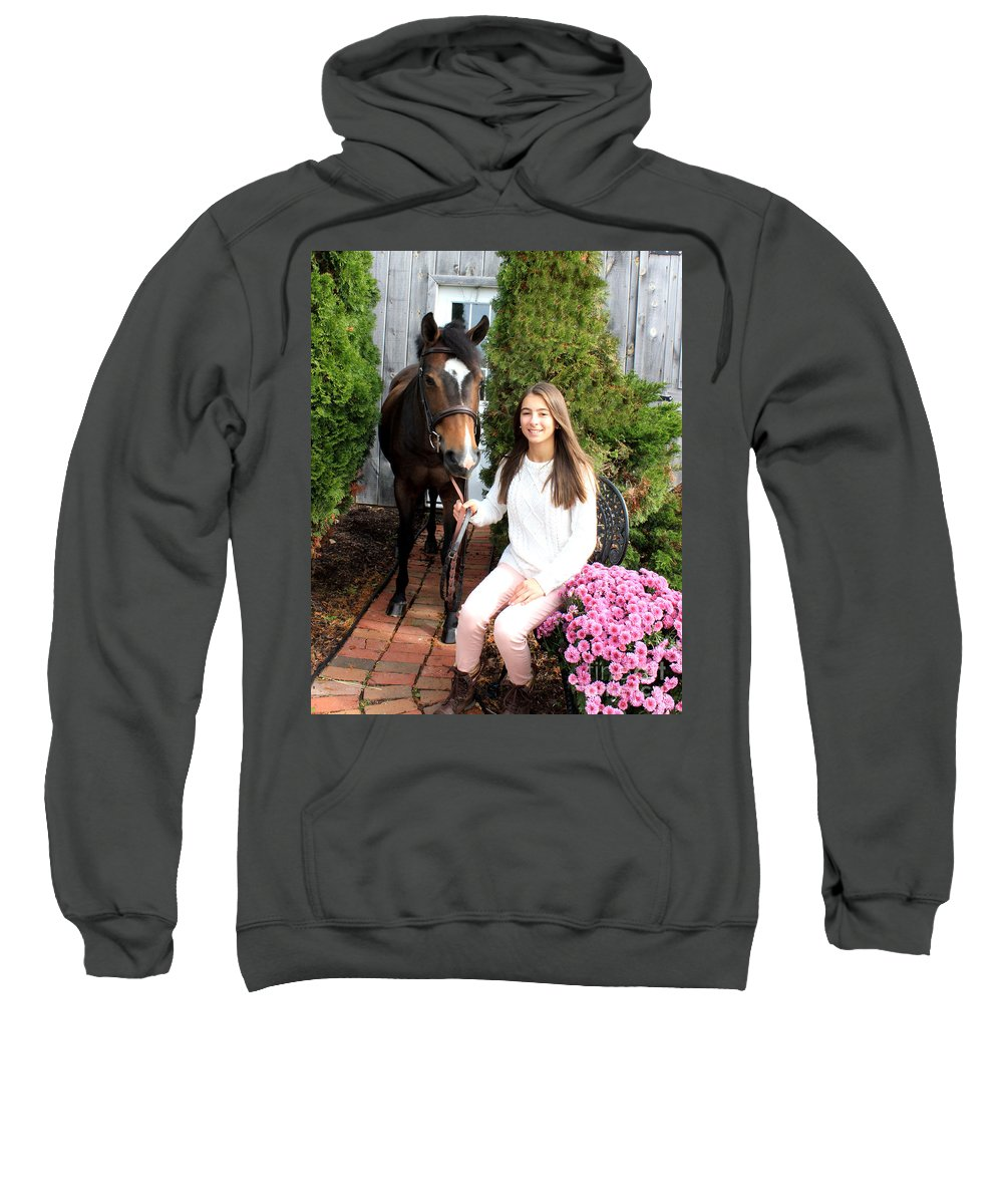 Sweatshirt featuring the photograph Leanna Abbey 4 by Life With Horses