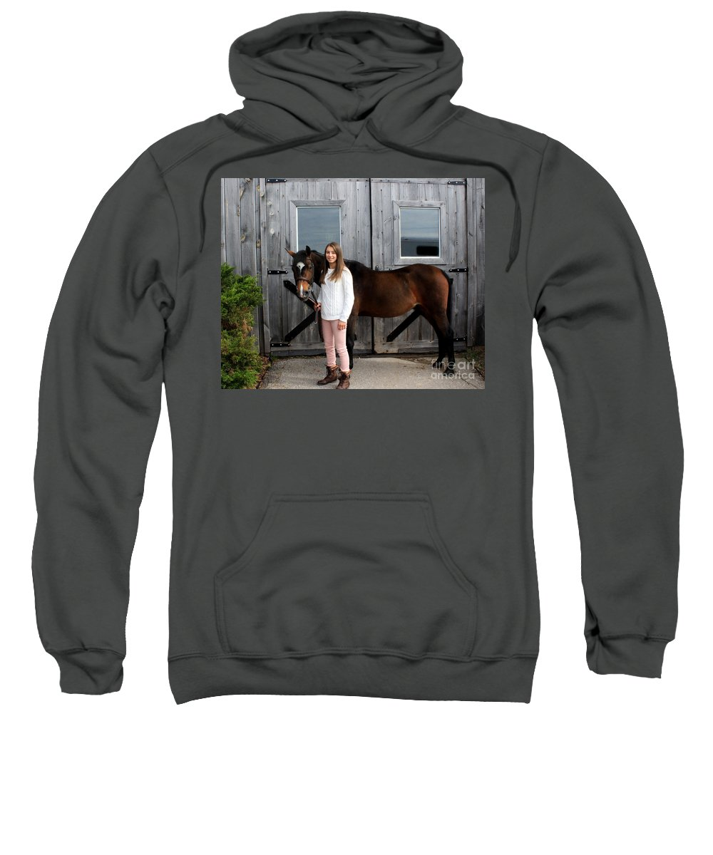 Sweatshirt featuring the photograph Leanna Abbey 6 by Life With Horses