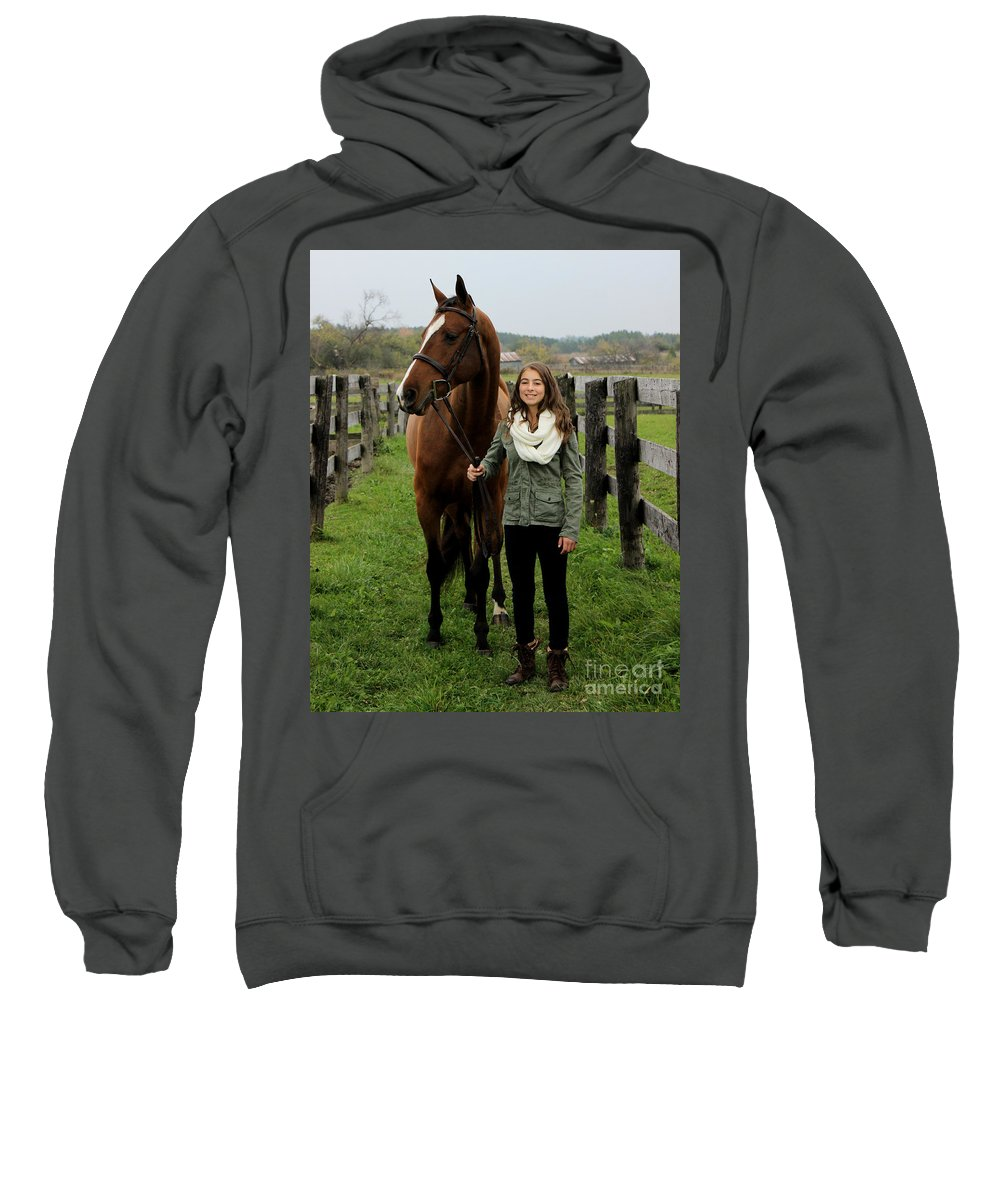 Sweatshirt featuring the photograph Leanna Gino 10 by Life With Horses