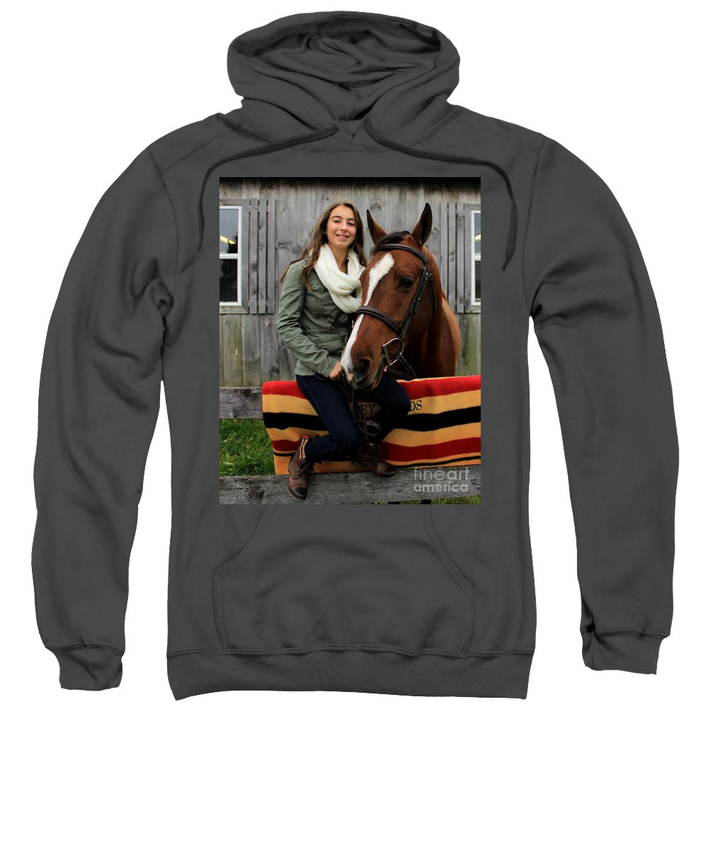 Sweatshirt featuring the photograph Leanna Gino 12 by Life With Horses