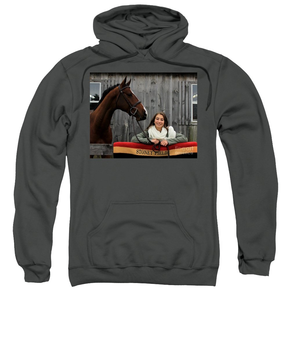 Sweatshirt featuring the photograph Leanna Gino 20 by Life With Horses
