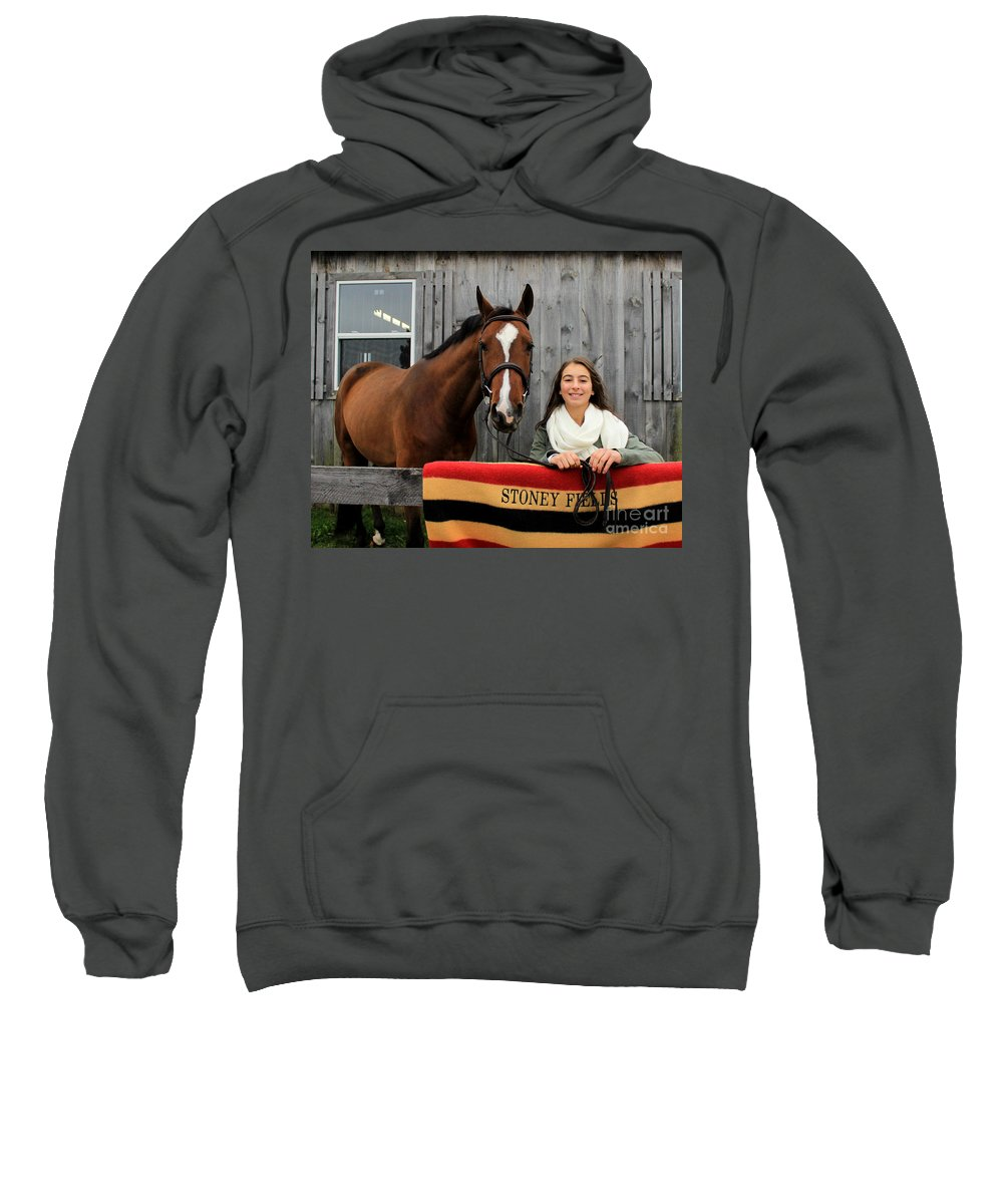 Sweatshirt featuring the photograph Leanna Gino 23 by Life With Horses