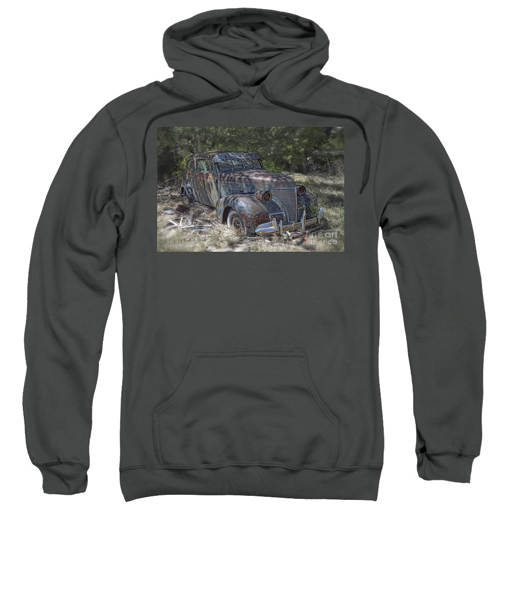 New Mexico Sweatshirt featuring the photograph Left For Scrap by Timothy Hacker