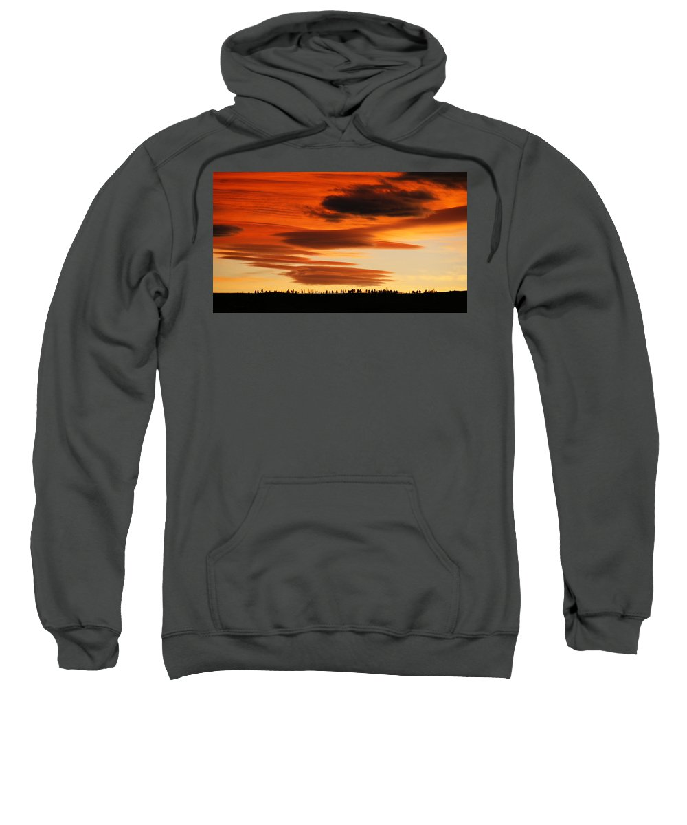 Lenticular Sweatshirt featuring the photograph Lenticular Sunset 1 by Marilyn Hunt