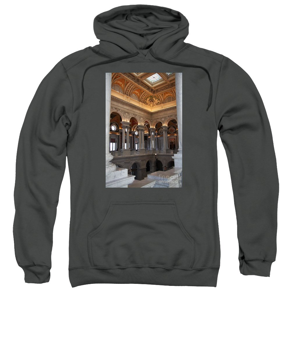 Library Sweatshirt featuring the photograph Library Of Congress Washington Dc by Christiane Schulze Art And Photography