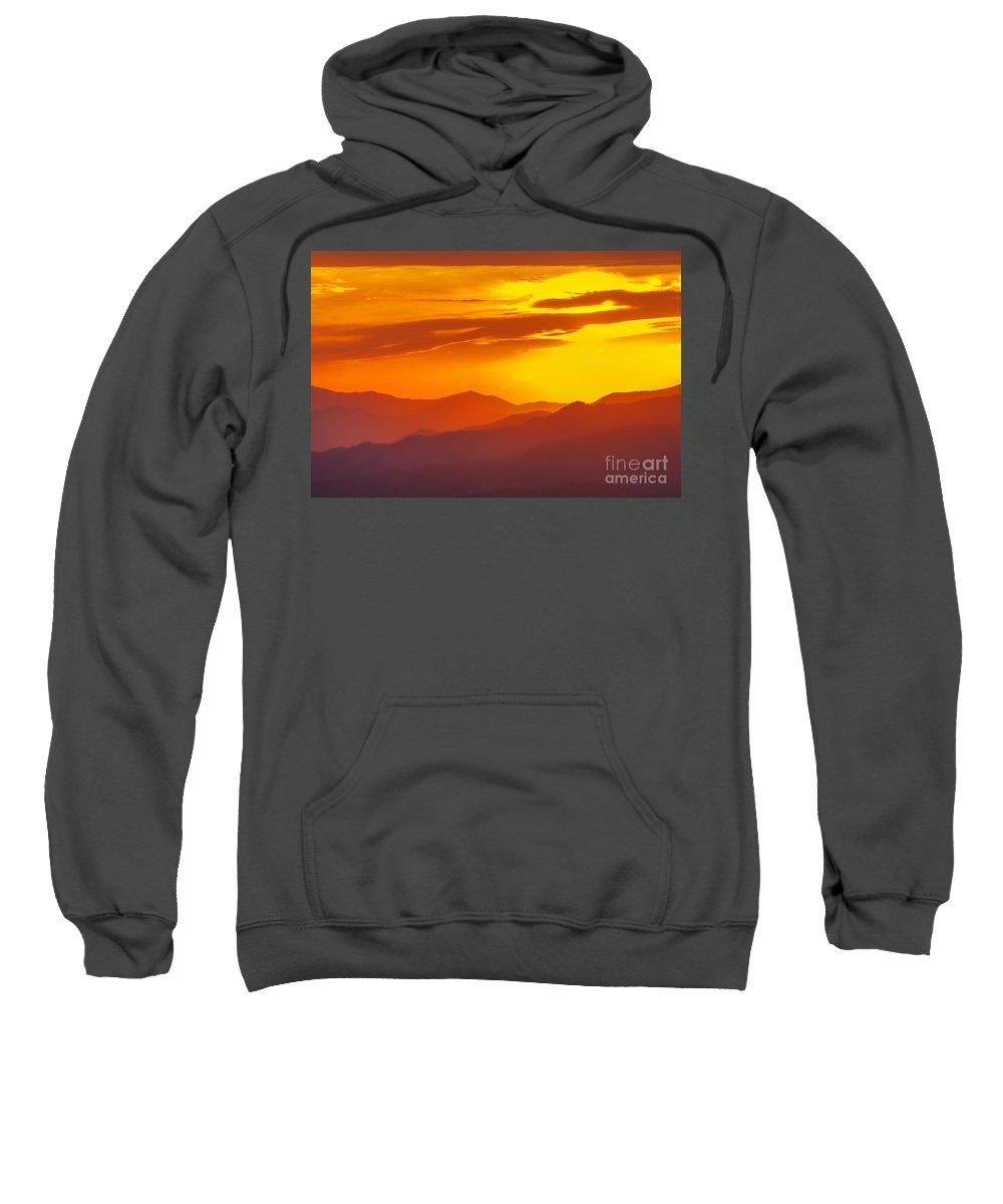 Blue Ridge Parkway Sunset Sweatshirt featuring the photograph Lickstone Gap Sunset 5 by Maria Struss