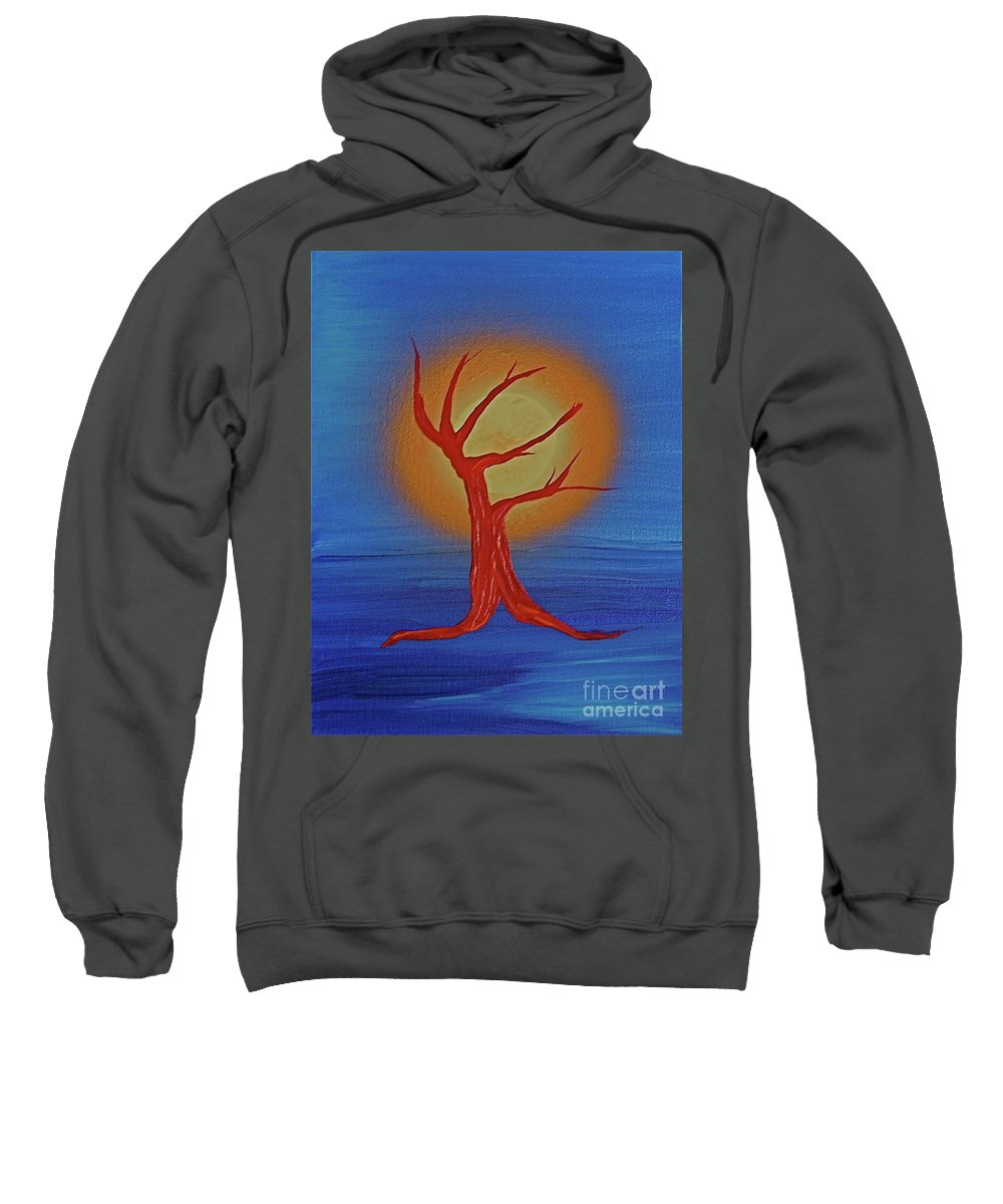 Tree Sweatshirt featuring the painting Life Blood By Jrr by First Star Art