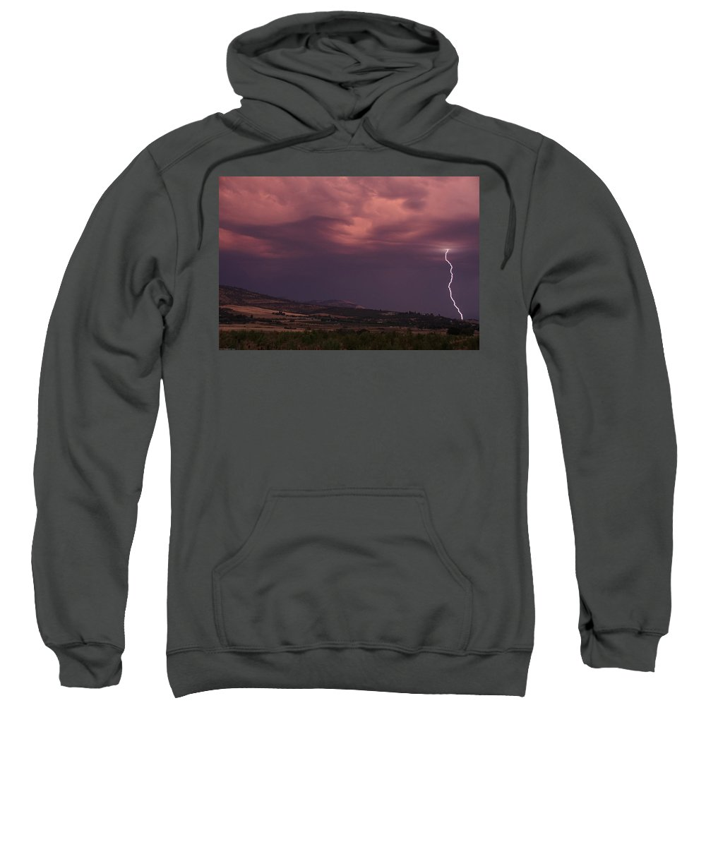 Lightning Sweatshirt featuring the photograph Life Can Change In An Instant by Mick Anderson