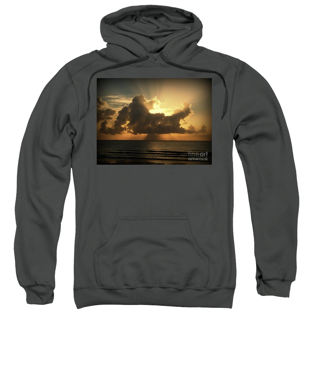 Sunrise Sweatshirt featuring the photograph Light Explosion by Reid Callaway