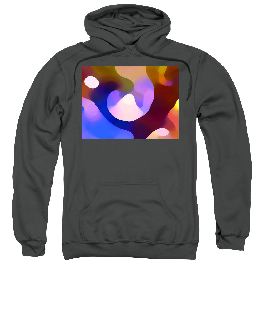 Sweatshirt featuring the painting Light Through Branch by Amy Vangsgard