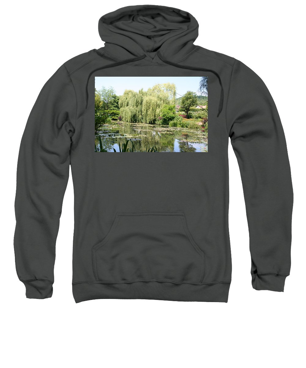 Lily Pond Sweatshirt featuring the photograph Lily Pond In Monets Garden by Christiane Schulze Art And Photography