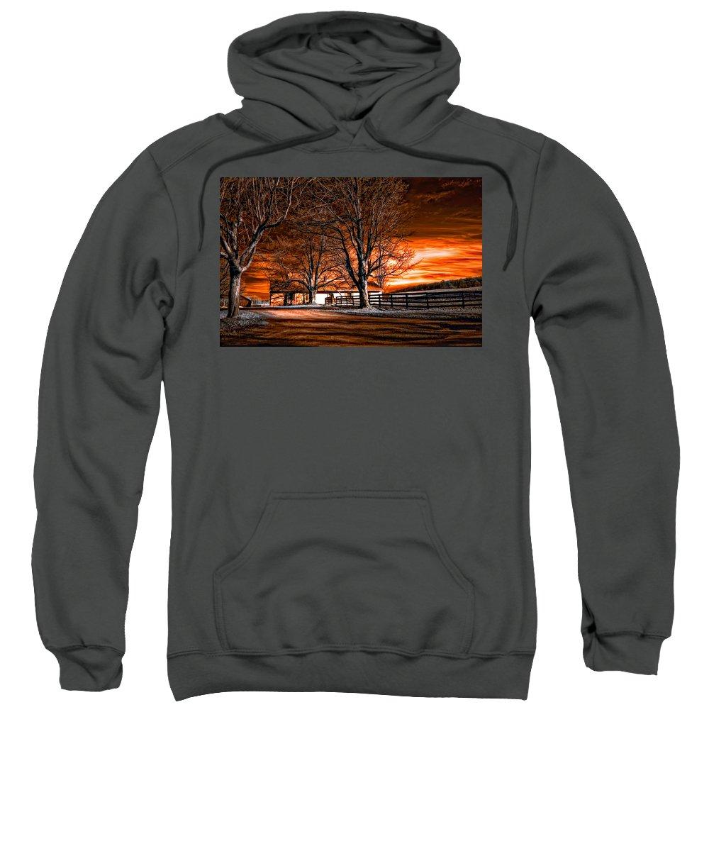 Farm Sweatshirt featuring the photograph Limbo by Steve Harrington