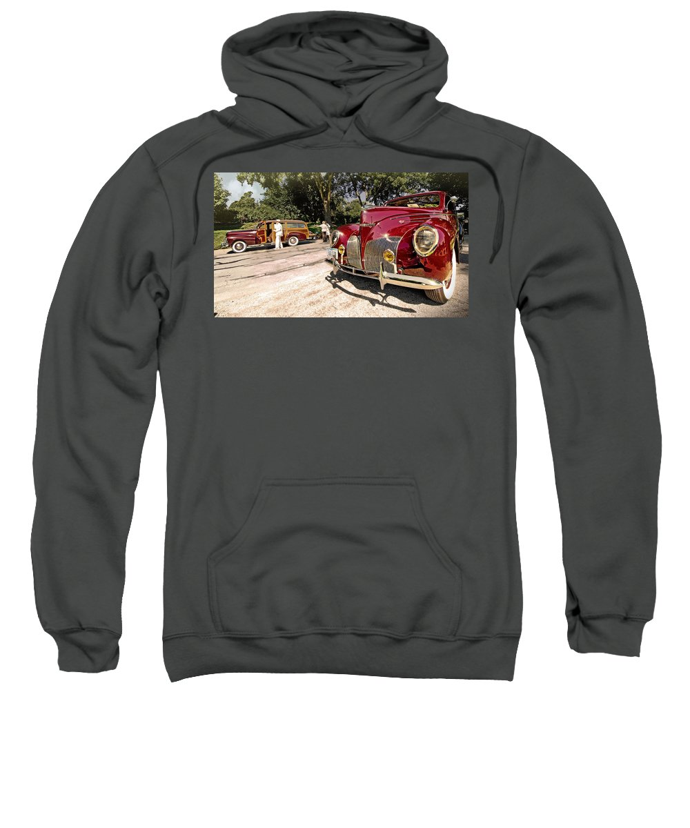 Antique Sweatshirt featuring the photograph Lincoln Zephyr by John Anderson