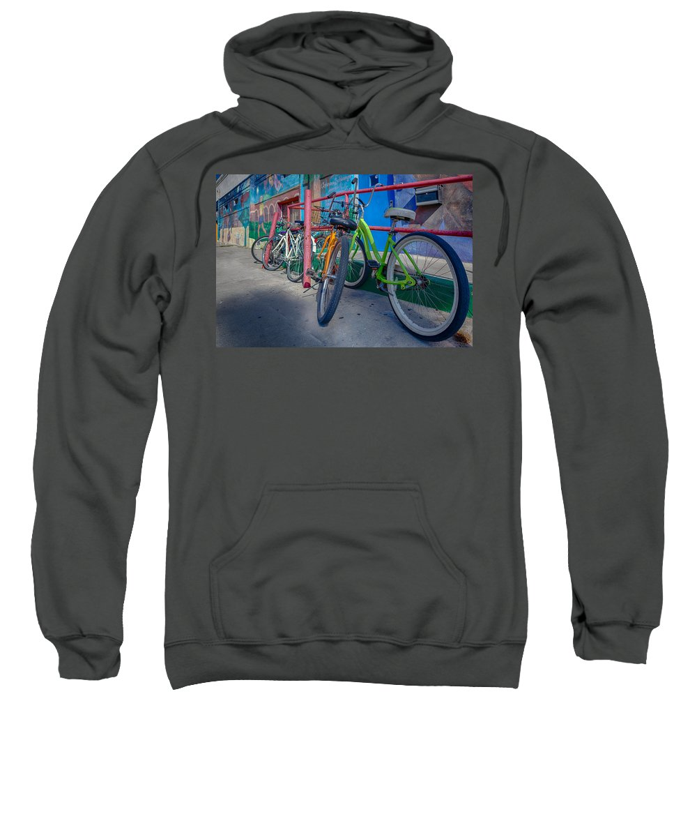 Bicycle Sweatshirt featuring the photograph Line Em Up by Scott Campbell