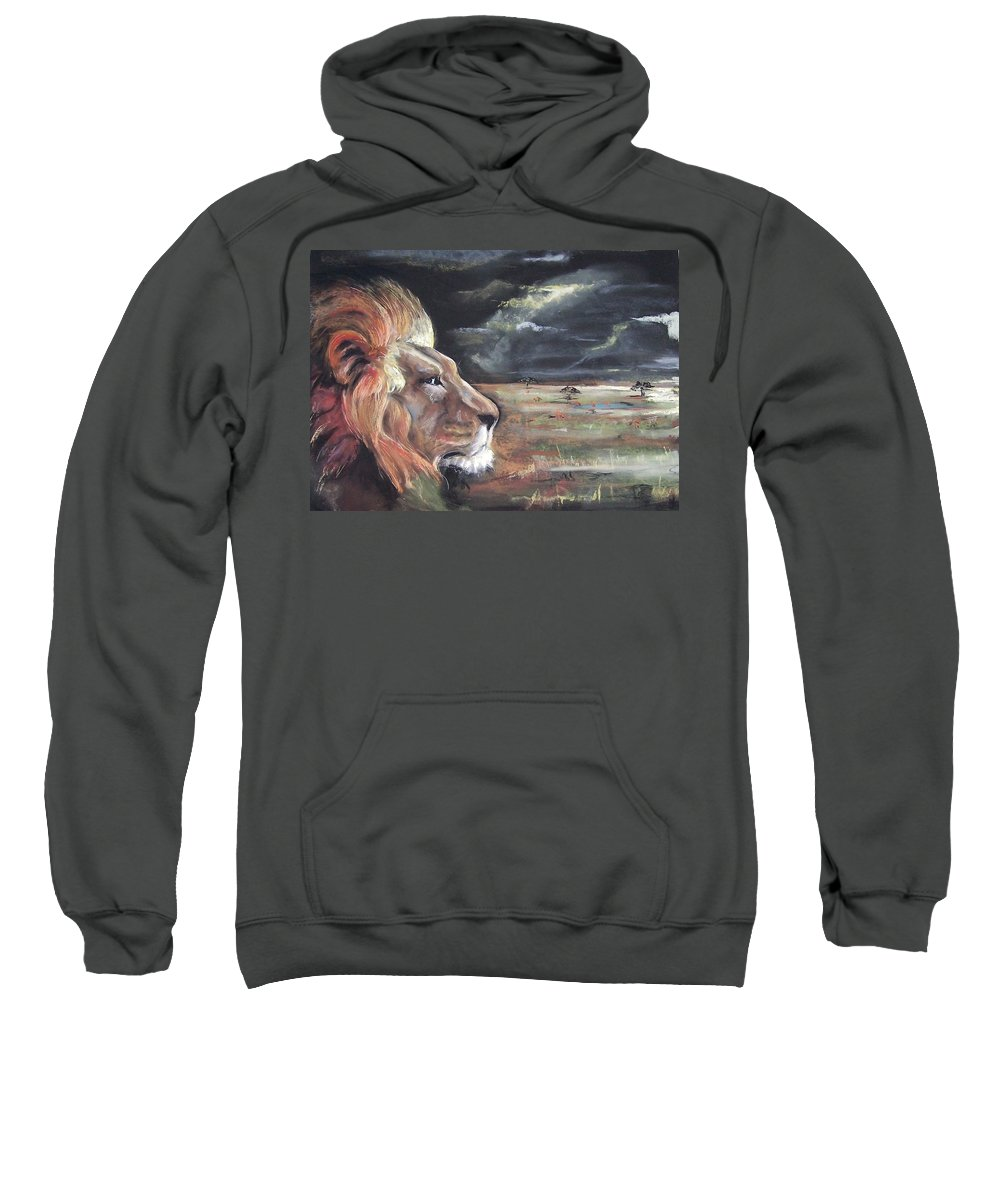 Animal Pastel Lion Sweatshirt featuring the pastel Lions Domain by Peter Suhocke