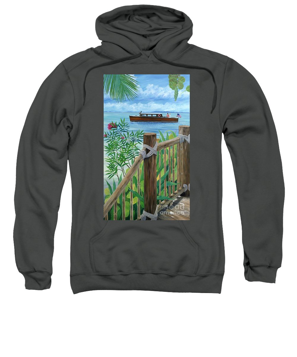Island Sweatshirt featuring the painting Little Palm Island by Danielle Perry