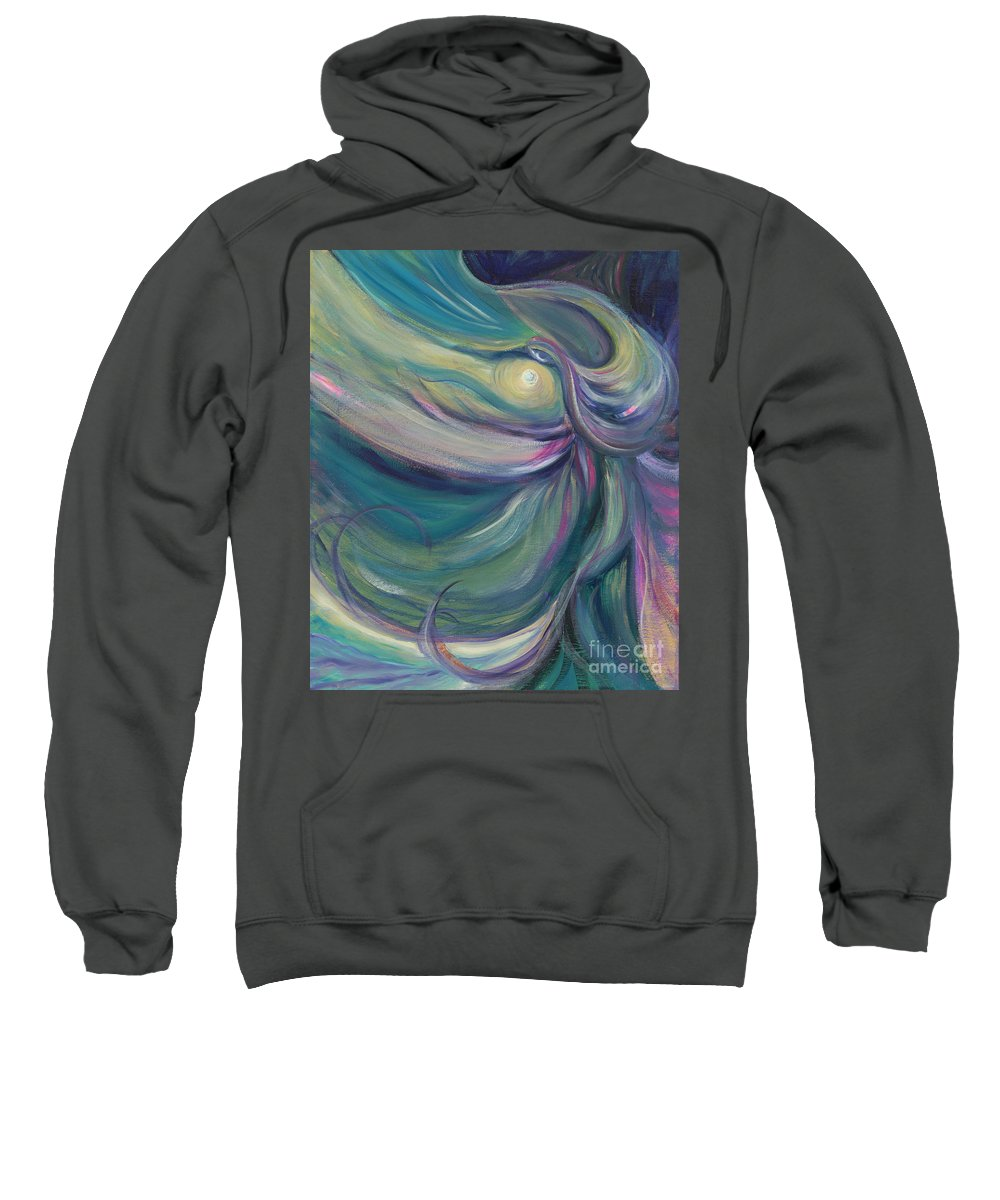 Dance Sweatshirt featuring the painting Liturgical Dance by Nadine Rippelmeyer