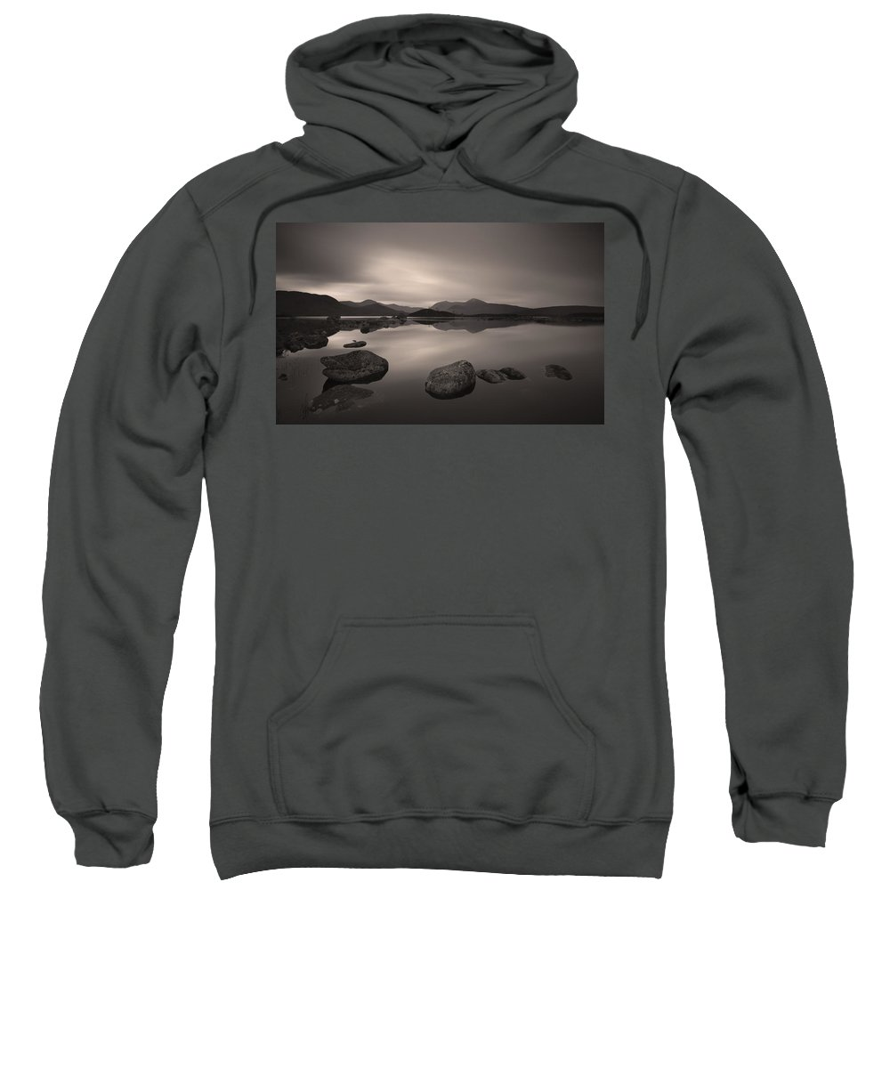 Glencoe Sweatshirt featuring the photograph Loch Nah Achlaise Dawn by Nigel Forster