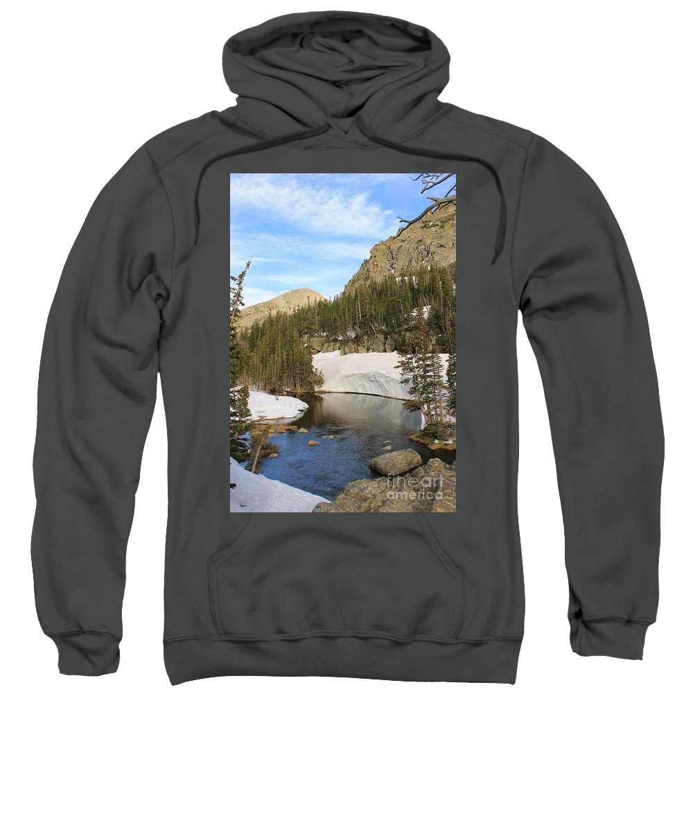 Rocky Mountains Sweatshirt featuring the photograph Loch View 2 by Tonya Hance