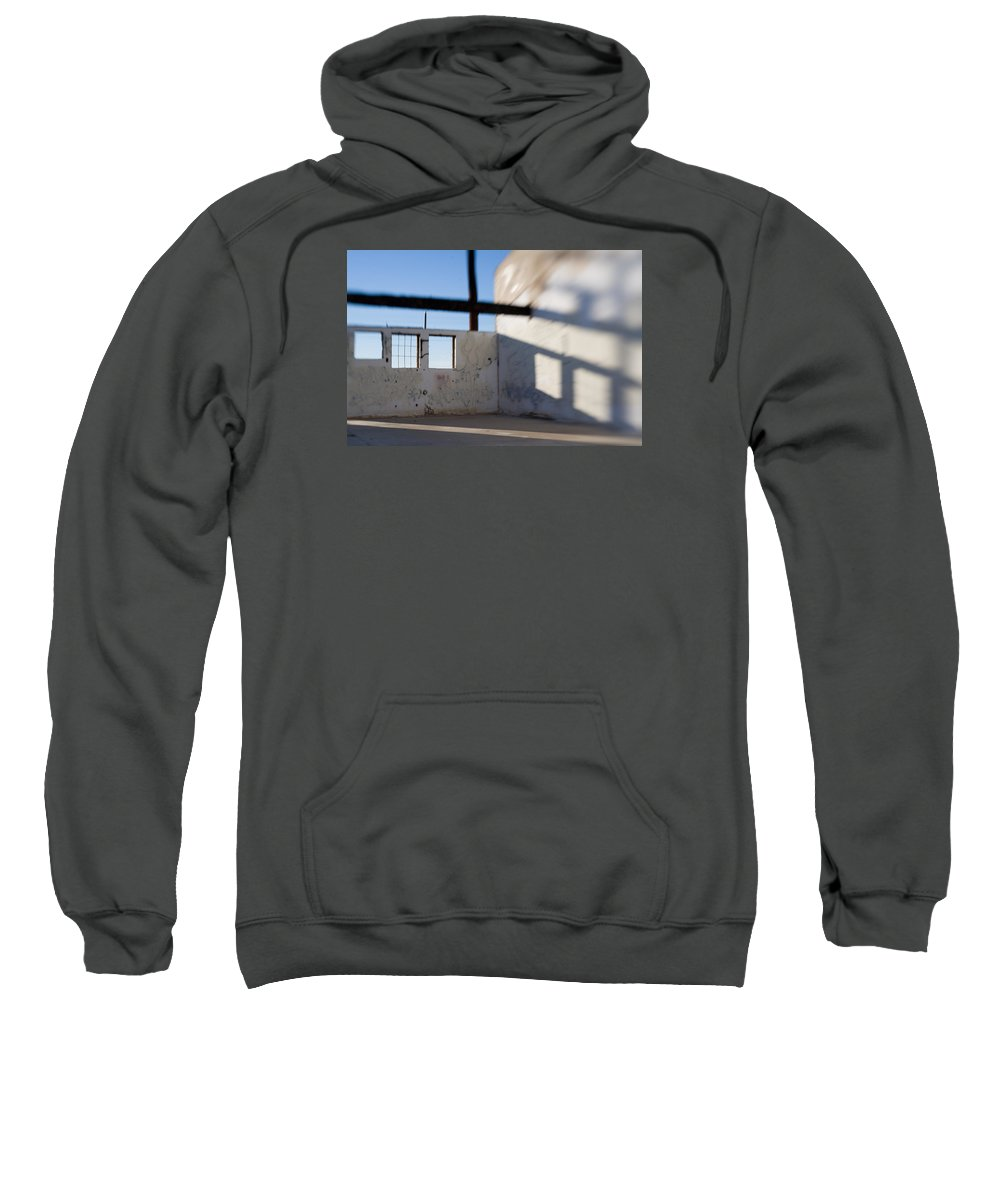 Warehouse Sweatshirt featuring the photograph Loft For Rent Burnt Out Building Or Wharehouse by Scott Campbell