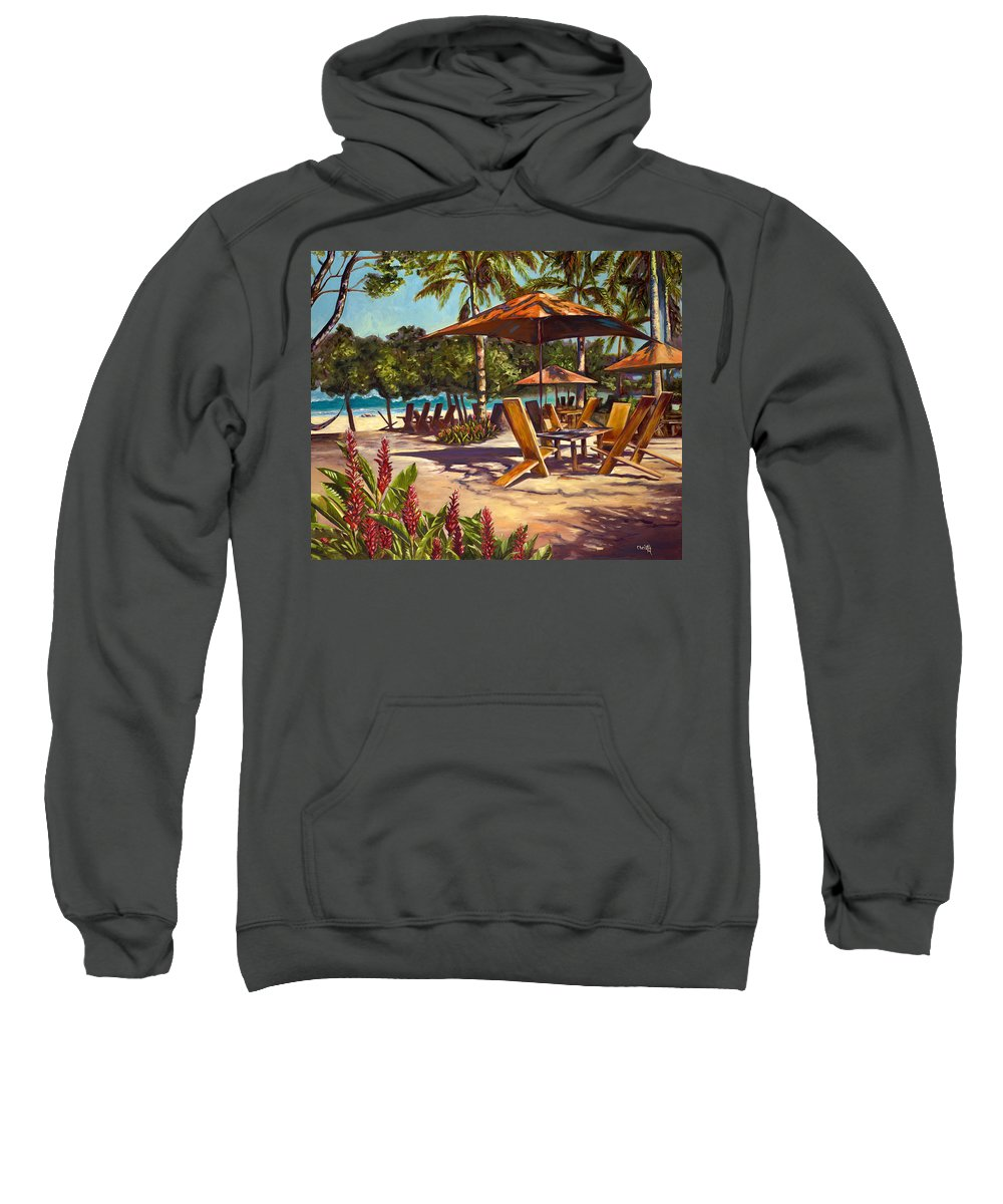 Tropical Sweatshirt featuring the painting Lola's In Costa Rica by Christie Michael