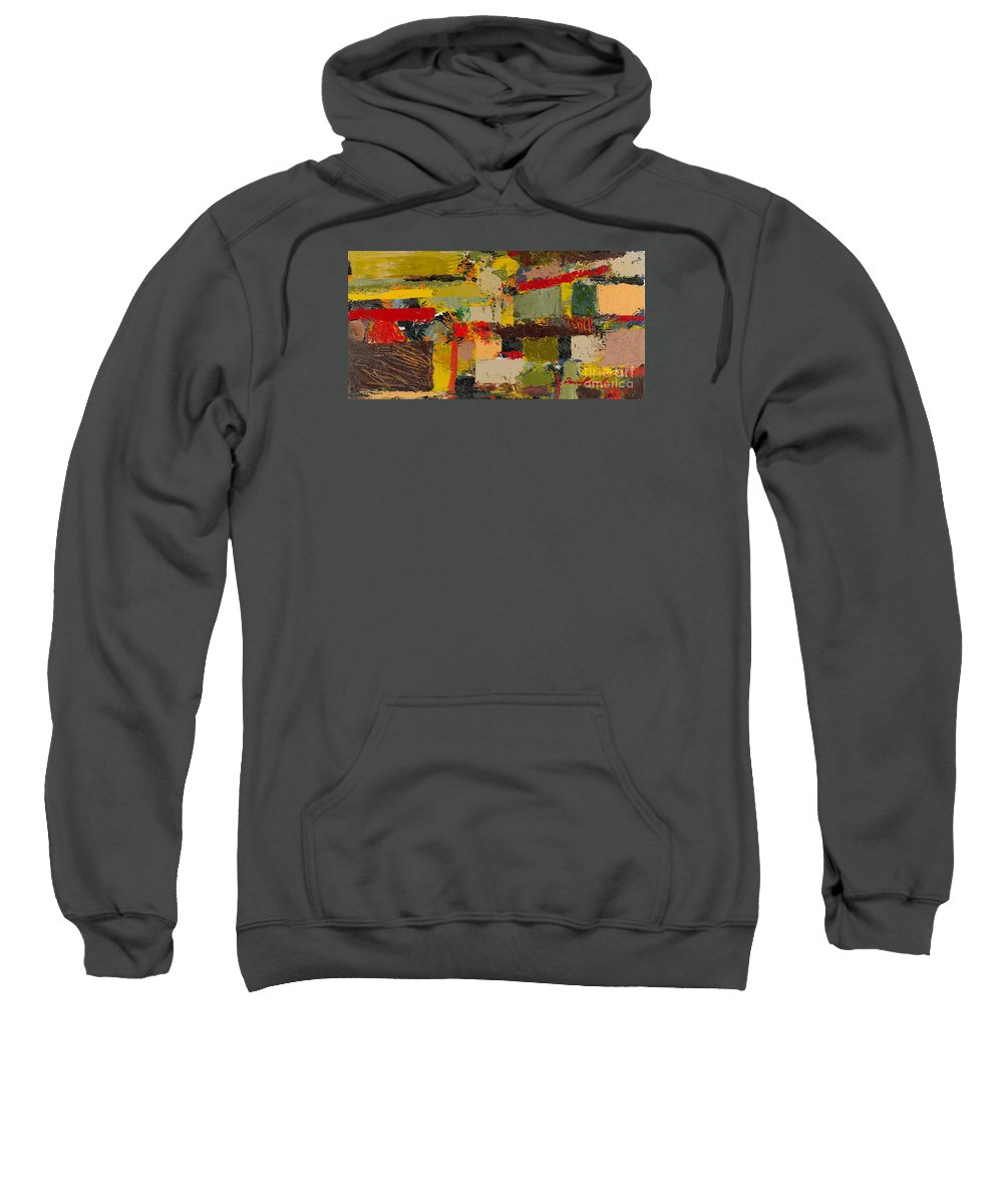 Landscape Sweatshirt featuring the painting Lombard At Fillmore by Allan P Friedlander