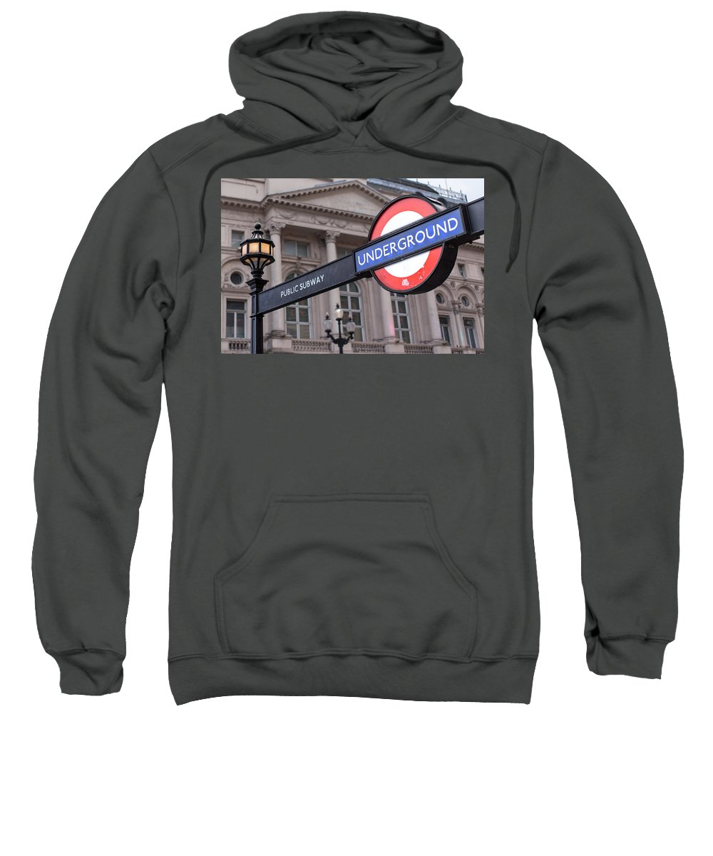 London Sweatshirt featuring the photograph London Underground 1 by Nigel R Bell