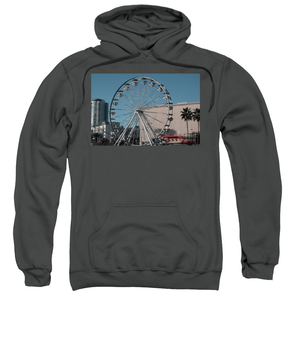 Clay Sweatshirt featuring the photograph Long Beach In Technicolor by Clayton Bruster