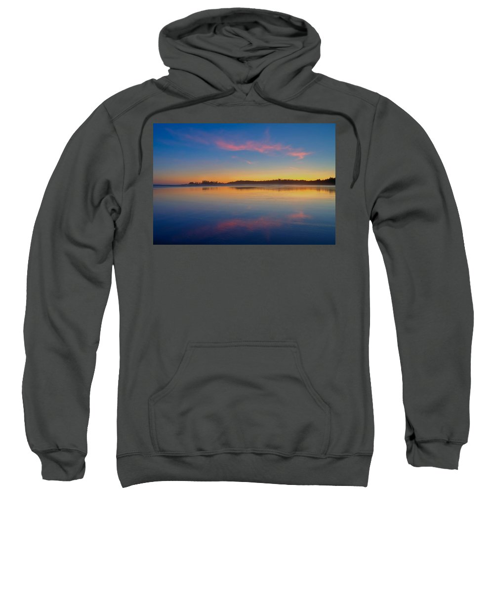 Long Beach Sweatshirt featuring the photograph Long Beach Sunset by James Anderson