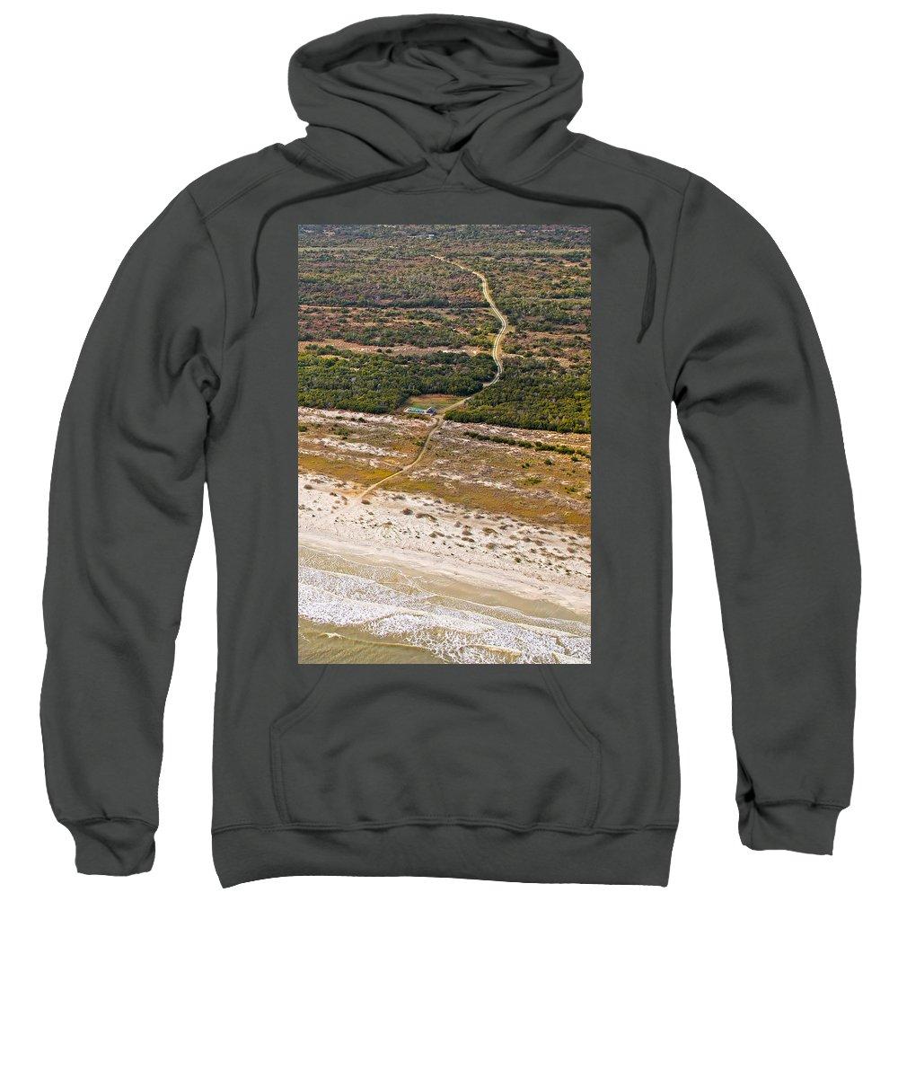 Jekyll Sweatshirt featuring the photograph Long Road To The Coast Near Jekyll Island by Betsy Knapp