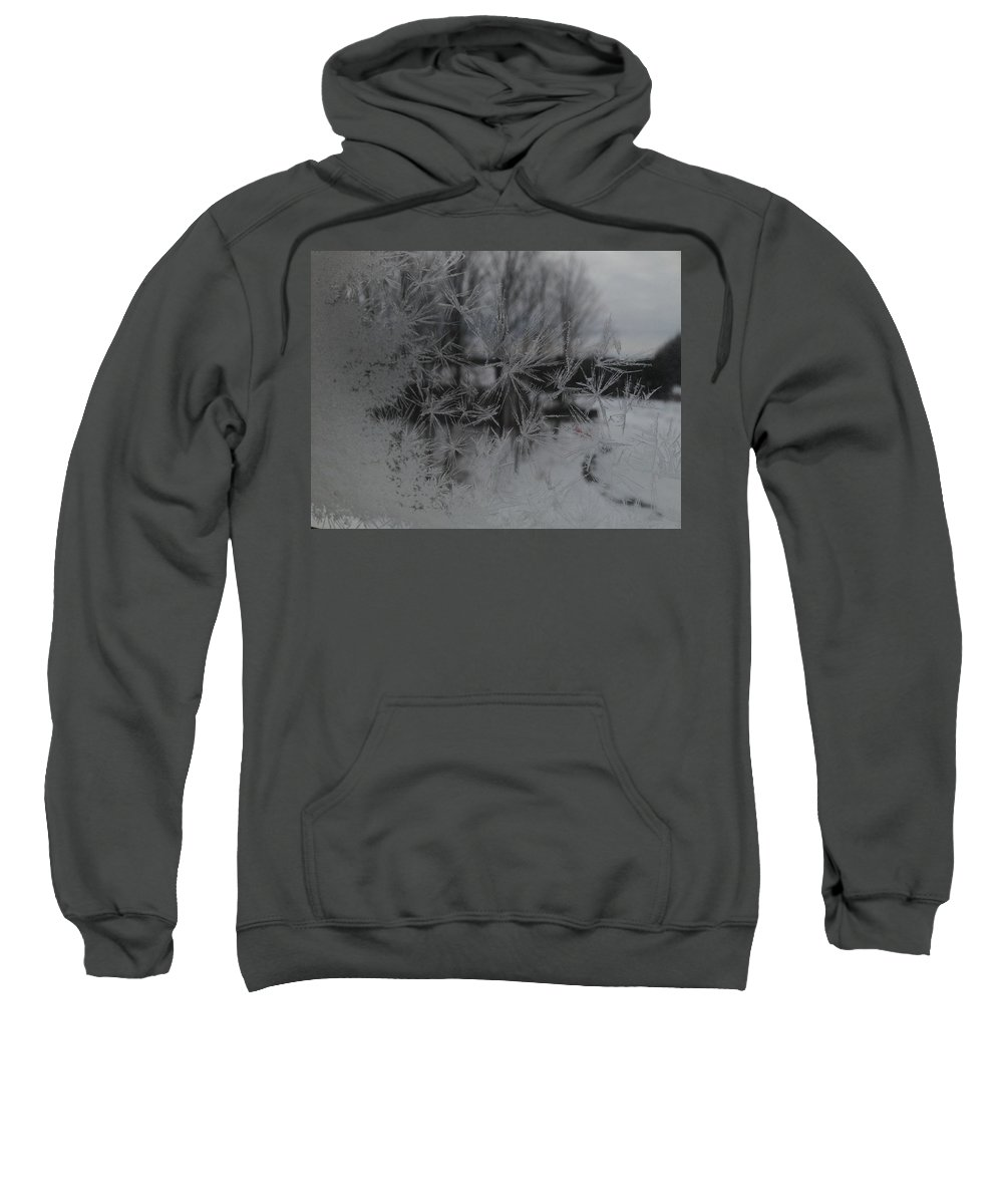 Frost Sweatshirt featuring the photograph Looking Through The Frost I by Tiffany Erdman
