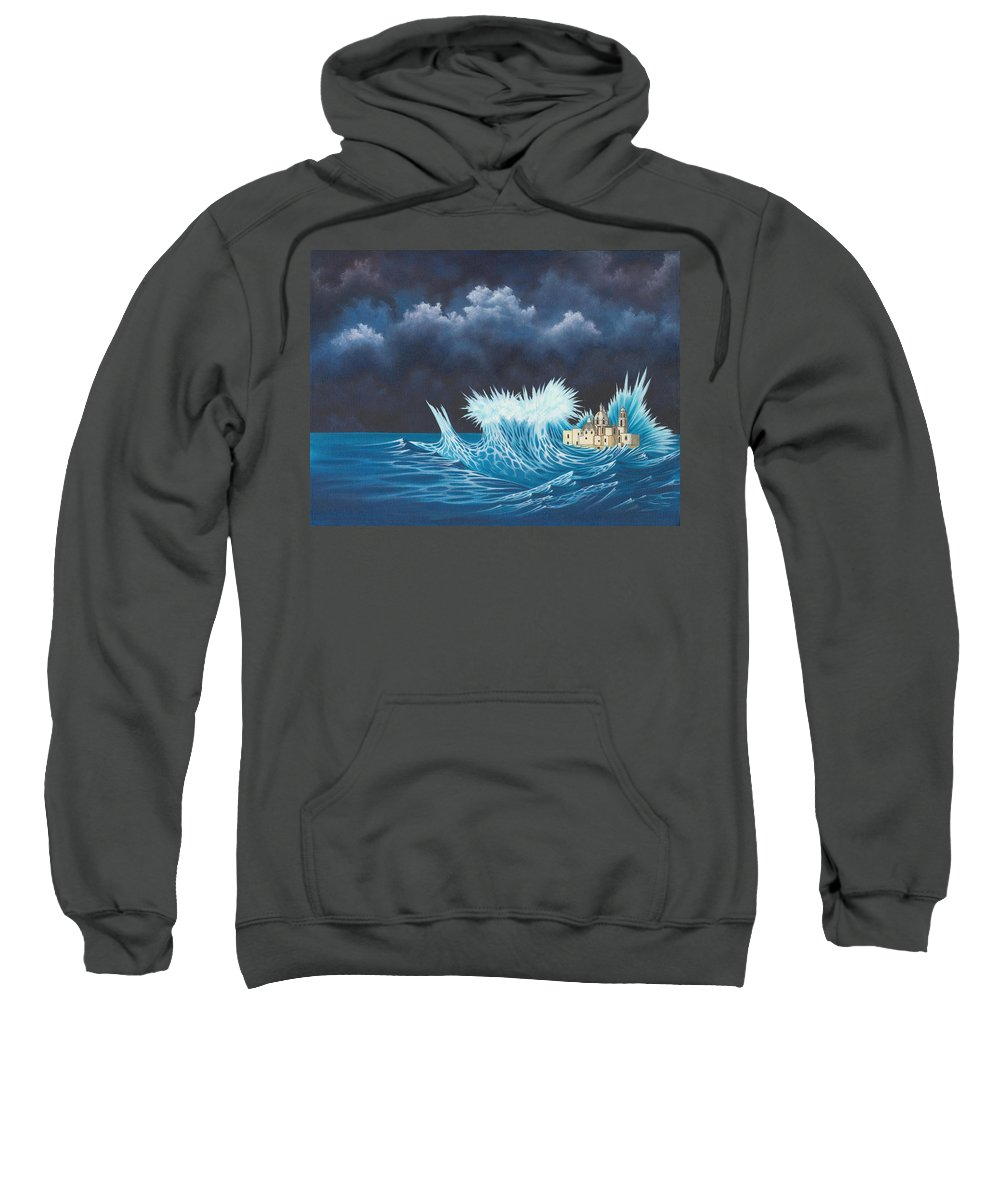 City Sweatshirt featuring the painting Lost City by Sue Brehm