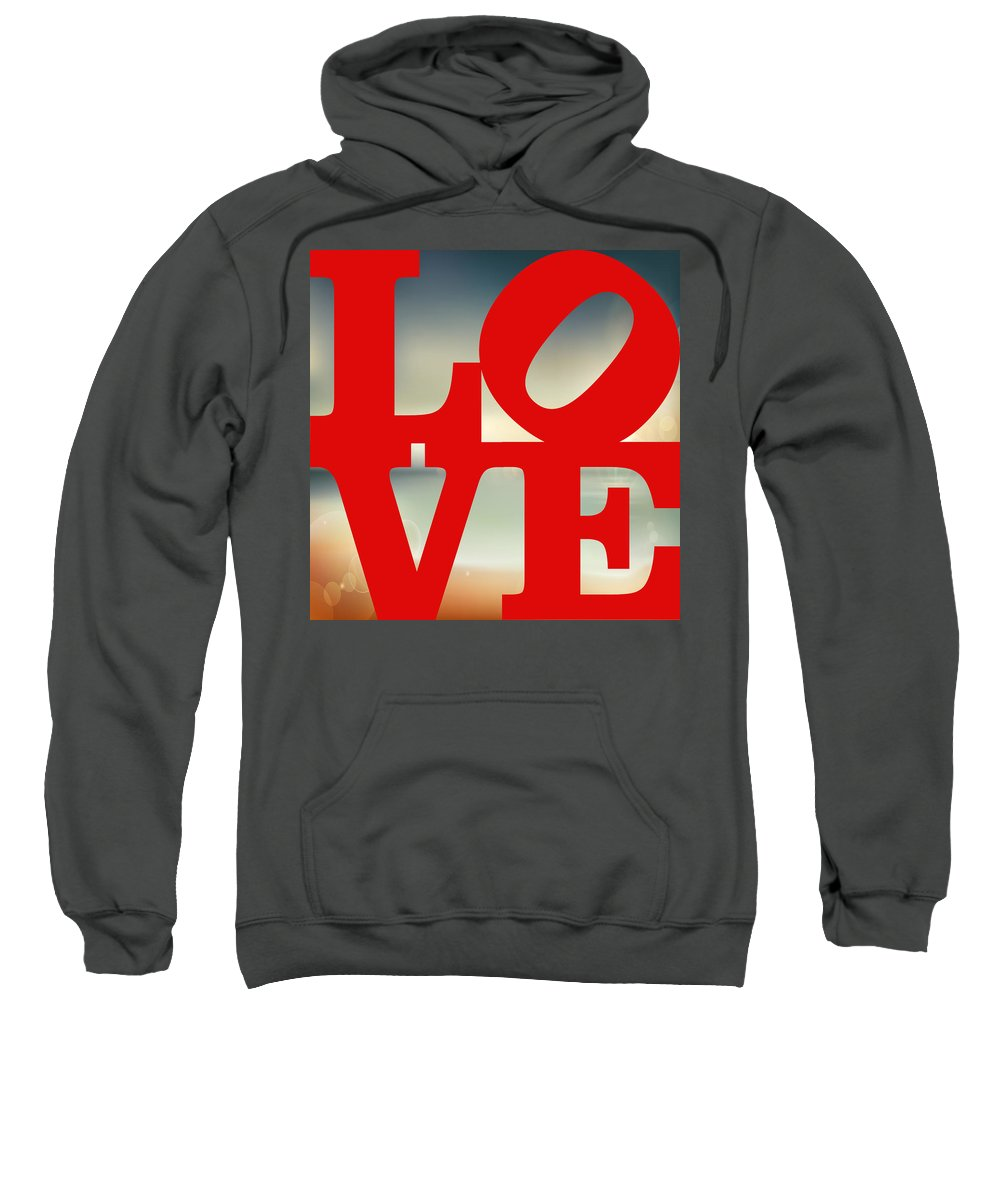 Wright Sweatshirt featuring the digital art Love Beach by Paulette B Wright